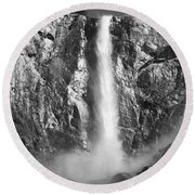 Bridalvail Fall  Round Beach Towel