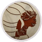 Bride 12 - Tile Round Beach Towel