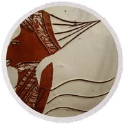Bride 3 - Tile Round Beach Towel