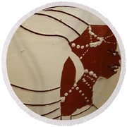 Bride 6 - Tile Round Beach Towel