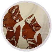 Brides Await - Tile Round Beach Towel