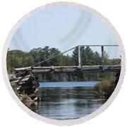 Bridge At Chub Round Beach Towel
