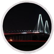 Bridge Blur Round Beach Towel