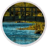 Bridge For Lovers Round Beach Towel