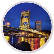 Bridge Houghton/hancock Lift Bridge -2669 Round Beach Towel