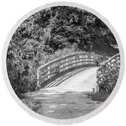 Bridge In The Path I Round Beach Towel