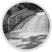 Bridge In The Path II Round Beach Towel