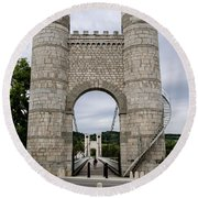 Bridge La Caille - Rhone-alpes Round Beach Towel
