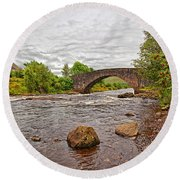 Bridge Of Orchy Argyll Bute Round Beach Towel