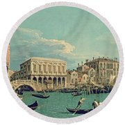Bridge Of Sighs Round Beach Towel