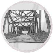 Bridge Over Mississippi Round Beach Towel