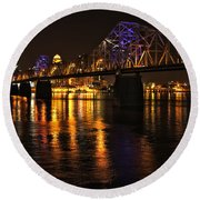 Bridge Over The Ohio Round Beach Towel