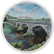 Bridge Over The River Laune, Killorglin Ireland Round Beach Towel