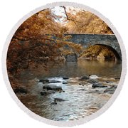 Bridge Over The Wissahickon At Valley Green Round Beach Towel