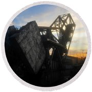Bridge Sundown Round Beach Towel