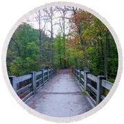 Bridge To Paradise - Wissahickon Valley Round Beach Towel