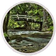 Bridge To Serenity Round Beach Towel