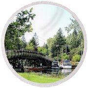Bridge To The Club Round Beach Towel