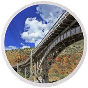 Bridge To Yesteryear Round Beach Towel