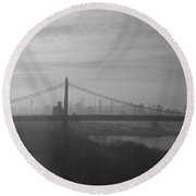 Bridge View Round Beach Towel