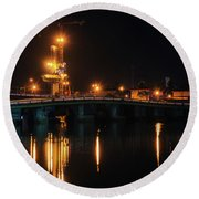 Bridges And Construction Round Beach Towel