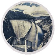 Bridges And Outback Dams Round Beach Towel