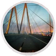 Bridges Round Beach Towel