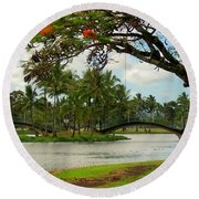 Bridges At Wailoa Round Beach Towel