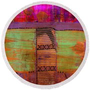 Bridging The Gap II Round Beach Towel
