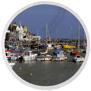 Bridlington Harbour Round Beach Towel