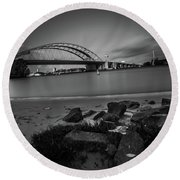 Brienenoordbrug 2 Round Beach Towel