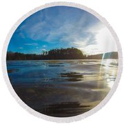 Briery Creek Lake Round Beach Towel