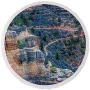 Bright Angel Trail @ Grand Canyon Round Beach Towel