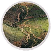 Bright Angel Trail Abstract Round Beach Towel