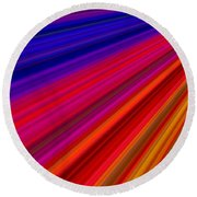 Bright Colors Round Beach Towel