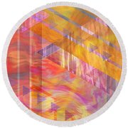 Bright Dawn Round Beach Towel