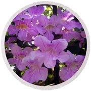 Bright-lillac Flowers 6-22-a Round Beach Towel