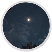Bright Moon Round Beach Towel