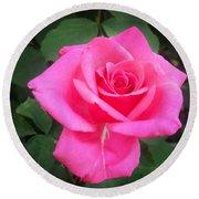 Bright-pink Rose 049 Round Beach Towel