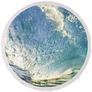 Bright Wave - Makena Round Beach Towel