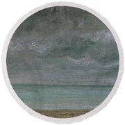 Brighton Beach Round Beach Towel by John Constable