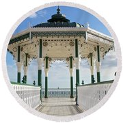 Brighton Seafront Gazebo Round Beach Towel