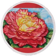 Brilliant Bloom Round Beach Towel