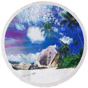 Brilliant Skyline In The Array Int The Mix Round Beach Towel