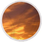 Brilliant Spring Sky Round Beach Towel