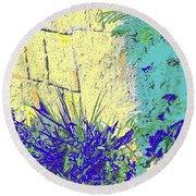 Brimstone Blue Round Beach Towel