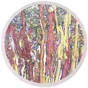 Brimstone Forest Round Beach Towel