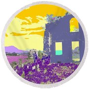 Brimstone Sunset Round Beach Towel