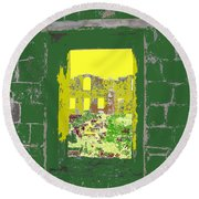 Brimstone Window Round Beach Towel