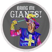Bring Me Giants Tee Round Beach Towel